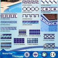 outdoor designs glaze polished colbat blue pool border tile