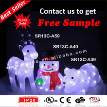 Acrylic Christmas LED Snowman figurine