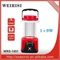 Rechargeable portable automatic emergency lantern with tube