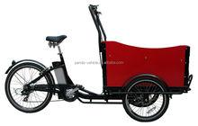 Europe 3 Wheel denish bakfiets/ family Electric Cargo Bikes for children