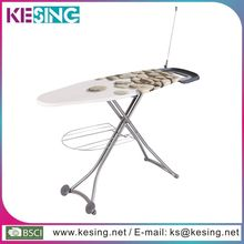 forma ovalada plegable muebles de malla superior con muebles tabla de planchar
