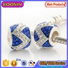 925 Sterling Silver Bead Charm Custom Crystal Bracelet Charm # P1