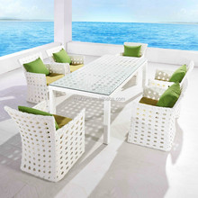 fashion city furniture plastic wicker dining table and chair