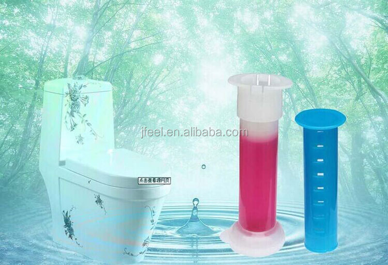 Syringe Shape Jelly Toilet Gel Air Freshener,Dual Stripe Toilet Gel