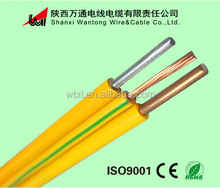 PVC insulation Yellow/Green color electrical wire