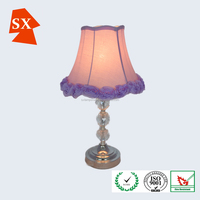 Fancy flower shape fabric warm decors children bedroom table lamp cover