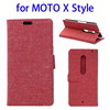 Bulk buy in China Linen Texture leather stand case for Moto X Syle cover