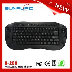 2.4GHz black color mini wireless trackball keyboard for tablet pc