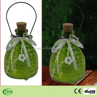Colored glass wasp trap hanging glass bee catcher