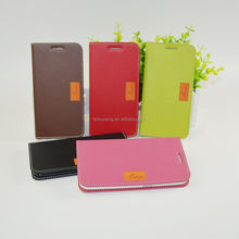 S6 flip leather case with Sewing frame for samsung galaxy G9208/G9209