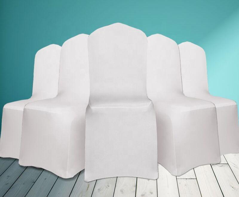 Noir spandex lycra housse <span class=keywords><strong>de</strong></span> chaise conviennent à la plupart des chaises <span class=keywords><strong>de</strong></span> banquet <span class=keywords><strong>de</strong></span> mariage couverture <span class=keywords><strong>de</strong></span> chaise