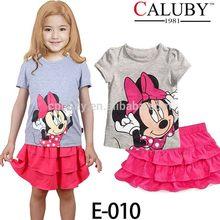 2015 niñas al por mayor de verano ropa de boutique precioso vestido de las niñas pijamas caluby venta al por mayor Las niñas fa