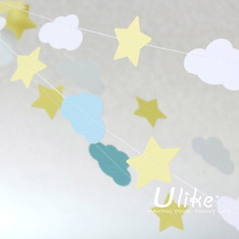 unique home decor chea popular diy wedding banner party banner paper bunting cheap flying banner forwall stickers home decor