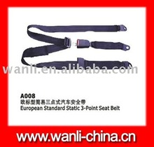 A008 Euro-Standard static 3 Point safety seat belt,emark safety seat belts, FMVSS safety seat belts