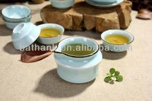 3D Sculpture Hand-printing Chinese ceramic tea set fish tea set TF008