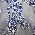 Nueva llegó cinta de tela de encaje bordado para la mujer de garmnet o vestido