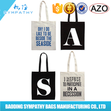 factory price popular green cotton bag for wholesale