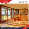 Sliding door aluminum and wooden system ,high performance on sealing with silicone sealant