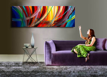 Modern Handmade Abstract Modern Nude Sexy Girl Face Abstract Painting
