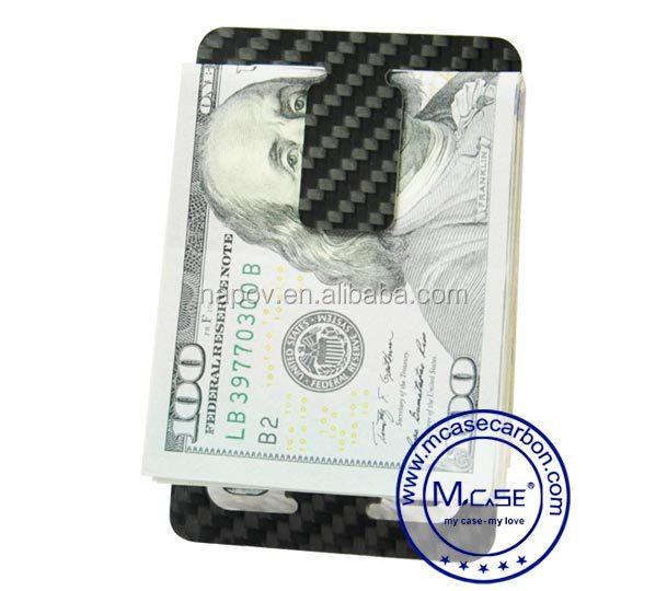 2016 slim flat carbon fiber money clip credit card holder wallet bottle opene. Black Bedroom Furniture Sets. Home Design Ideas
