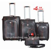 PU Trolley Big Size Luggage Bag travel bag set upright luggage suitcase drawbar case box