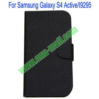 Newest Horizontal Stripes Leather Material for Samsung Galaxy S4 Active Case
