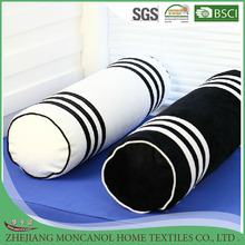 white and black column shape candy decorative pillow