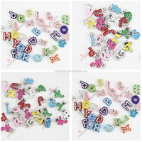 Fashion cheap colorful initial letter jewelry