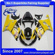 FFGSU001 Motorcycle ABS Fairing Kit For GSX R750 GSXR750 GSX R600 GSXR600 2001 2002 2003 Dark Yellow&Black 2
