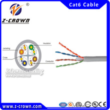 Bulk 305m pull box utp cable pass fluke test/ networking cable utp cat6 cable color code