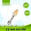 High cost performance excellent quality 360 degree beam angle e26 8w led bulb filament