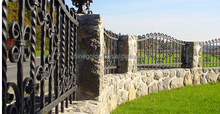 metal artistic fence and gates for sales