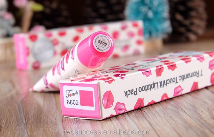 New product Wow Romantic Lip Tattoo Peel Off Magic Long Lasting Lip Gloss Lipstick .jpg