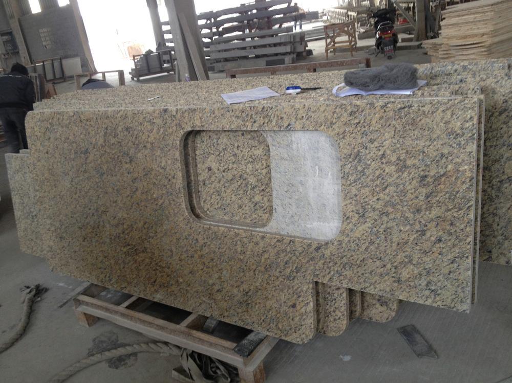 Pulido cocina encimera de granito de precio por metro for Precio metro lineal encimera granito