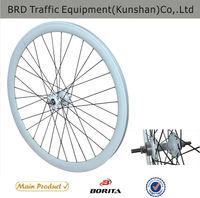 CNC white Rim Sealed bearing hub wheel for bike