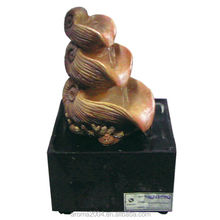 battery operated water fountain carved seashell