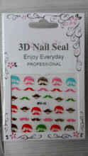Beeann new design nail stickers 3D nail seal