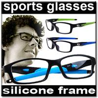 Silicon Memory Frame Anti-broken TR90 Man Sports Plain Glasses zl031