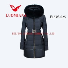 Luomiana OEM manufacture winter clothing customized outdoor down coat women down jacket,winter apparel lady's jacket