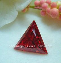 triangle red gemstone cubic zirconia present selling