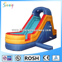 new design inflatable mini water slide with pool for playing