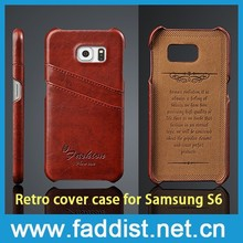 design cover PU leather case for samsung s6 mobile phone case