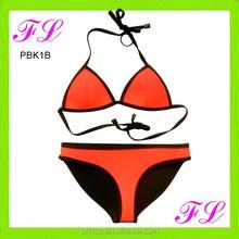 2015 custom sexy triangle swimwear neoprene bikini