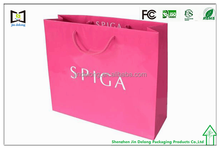 Wholesale Pink Party Paper shopping bag,gift paper bag