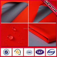 EN20471 Polyester Fluorescent Orange, Durably Waterproof oil repellance Workwear Fabric for Satety Jacket