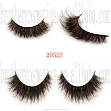 100% Real Fur False Eyelashes Mixed Colored for Daily Life