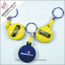 Flexible plastic custom embossed colorful refinement design soft pvc keychains