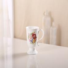 Wholesale fashion ceramic flower shape ceramic coffee cups and mugs