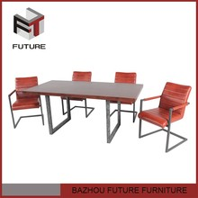 European pictures of MDF restaurant dining table and chair