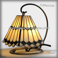 MX000083 hot china wholesale tiffany style stained glass mini table lamp shade